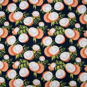 Ткань на отрез кулирка R6134-V1 Кокосы цвет темно-синий
