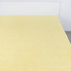 Простынь махровая цвет Лимон 180/220