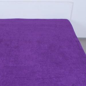 Простынь махровая цвет Темно-фиолетовый 155/200