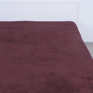 Простынь махровая цвет Шоколад 150/220