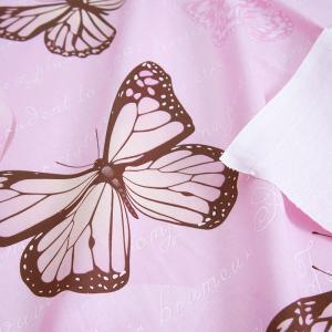 Маломеры бязь 120 гр/м2 150 см Бабочки на розовом 11 м