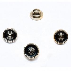 Пуговица ПР123 черная золото уп 50 шт