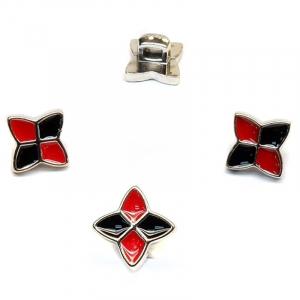 Пуговица ПР124 красно-черная уп 50 шт