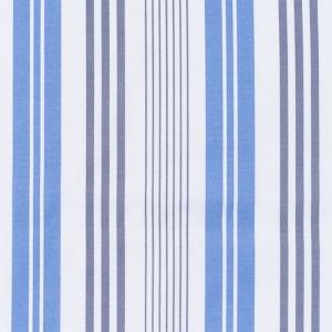 Ткань на отрез рогожка 150 см 97253 Полоса цвет синий