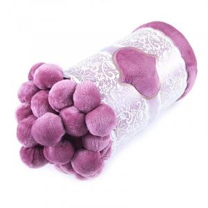 Покрывало бубон 200/220 цвет розовый