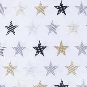 Маломеры бязь плательная 150 см 8104/2 Звезды пэчворк цвет бежевый 11 м