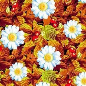 Вафельное полотно набивное 150 см 391/3 Жаркое лето цвет красный