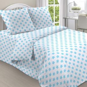 Ткань на отрез поплин 150 см 2024/1 цвет голубой