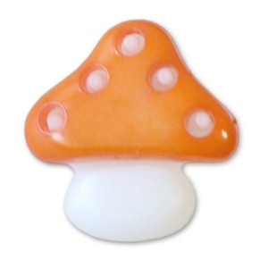 Пуговица детская сборная Гриб 16 мм цвет оранжевый упаковка 24 шт