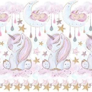 Ткань на отрез перкаль 150 см 13247/1 Unicorns Модель 1
