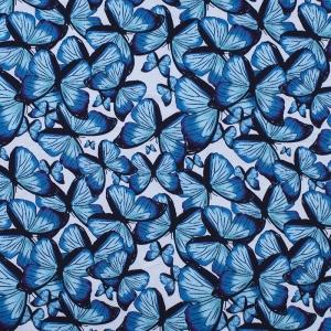 Купить ткань на отрез кулирка R6122-V2 Бабочки напрямую от производителя - 1mtkani.ru