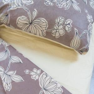 Постельное белье ситец Шуя Цветы кофейные 1.5 сп