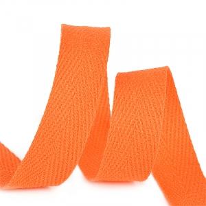 Лента киперная 10 мм хлопок 2.5 гр/см цвет F157 оранжевый