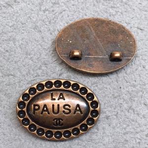 Пуговица металл ПМ138 18мм La pausa овал уп 12 шт