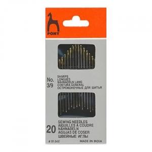 Иглы швейные PONY 01362 размер 3-9 уп 20 шт