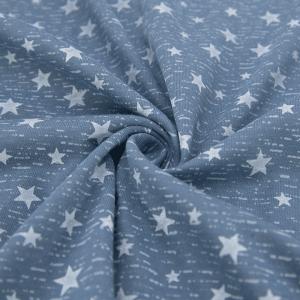 Ткань на отрез кулирка R1167-V2 Звездная ночь цвет синий