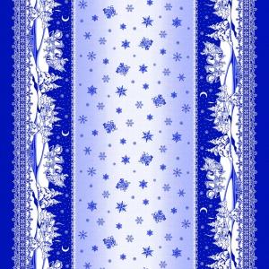 Рогожка 150 см 10753/1 Снежные узоры