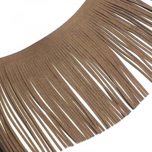 Бахрома декоративная и замша 14,5см коричневый 2156 уп 10 м