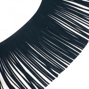 Бахрома декоративная и замша 14,5см черный 2156 уп 10 м