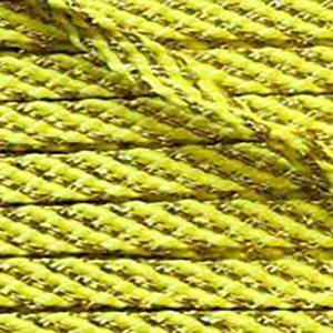 Шнур желтый с золотом 6мм уп 10 м