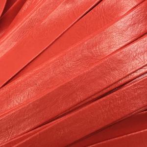 Шнур декоративный кожзам 10мм красный 2148 уп 10 м