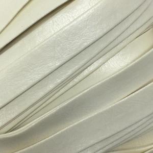 Шнур декоративный кожзам 10мм молочный 2148 уп 10 м