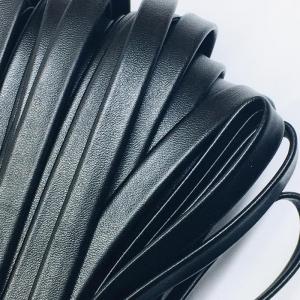 Шнур декоративный кожзам 10мм черный 2148 уп 10 м