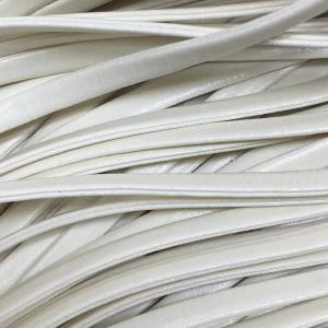 Шнур декоративный кожзам 4мм молочный 2147 уп 10 м
