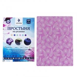 Простыня трикотажная на резинке цвет узоры 120/200/20 см