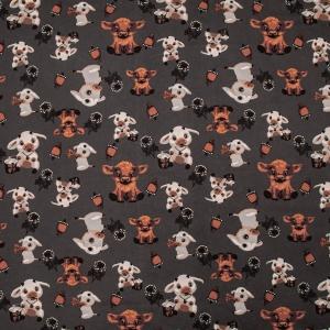 Ткань на отрез кулирка R10032-V1 Маленький бычок