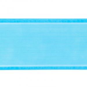 Лента для бантов ширина 80 мм цвет бирюзовый 1 метр