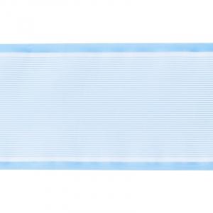 Лента для бантов ширина 80 мм цвет голубой 1 метр