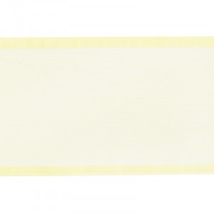Лента для бантов ширина 80 мм цвет желтый 1 метр