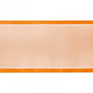 Лента для бантов ширина 80 мм цвет оранжевый 1 метр