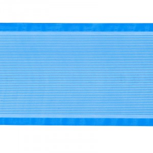 Лента для бантов ширина 80 мм цвет синий 1 метр