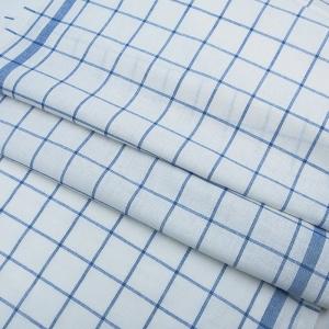 Полулен полотенечный 50 см 3/40/1 Клетка цвет синий
