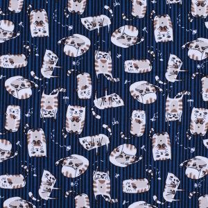 Ткань на отрез кулирка R4175-V1 Котик