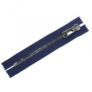 Молния металл №12 RR черный никель н/р 18см D919 морской синий