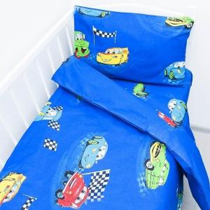 Постельное белье в детскую кроватку 26032 бязь ГОСТ