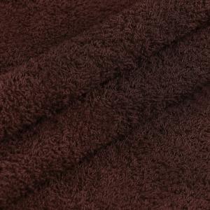 Ткань на отрез махровое полотно 150 см 390 гр/м2 цвет кофе