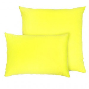 Наволочка на молнии цвет лимонный в упаковке 2 шт 70/70 см