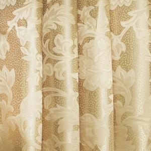 Портьерная ткань 150 см на отрез 22 цвет бежевый ветка