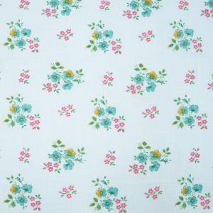 Ткань на отрез ситец 80 см Цветы на белом
