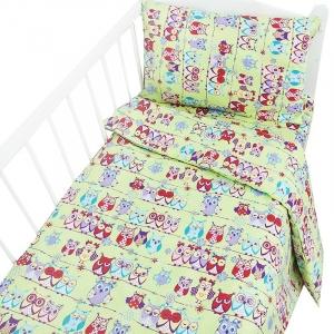 Постельное белье в детскую кроватку 1685/3 цвет салат