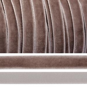 Лента бархатная 20 мм TBY LB20327 цвет пыльно-сиреневый 1 метр