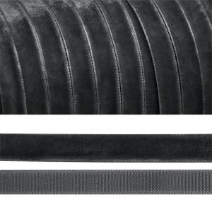 Лента бархатная 20 мм TBY LB2064 цвет т-серый 1 метр