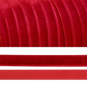 Лента бархатная 6 мм TBY LB0642 цвет т-красный 1 метр