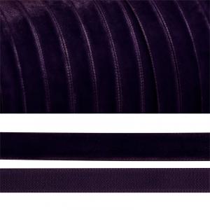Лента бархатная 6 мм TBY LB0659 цвет т-фиолетовый 1 метр