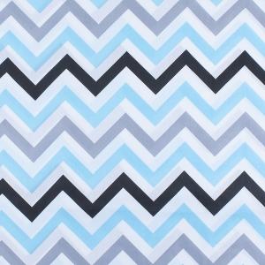 Ткань на отрез поплин 150 см 1797/2 цвет голубой