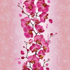 Полотно вафельное 50 см набивное арт 60 Тейково рис 35067 вид 1 Орхидея